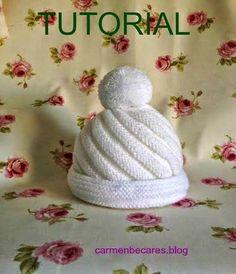 regalo perfecto para un bebé: ¡Un gorrito de punto! Baby Hats Knitting, Baby Knitting Patterns, Free Knitting, Knitted Hats, Crochet Patterns, Knit Crochet, Crochet Hats, Baby Bonnets, Knitting Accessories