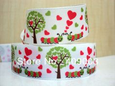 kerryribbon free shipping 1 '' love ribbon Grosgrain ribbon