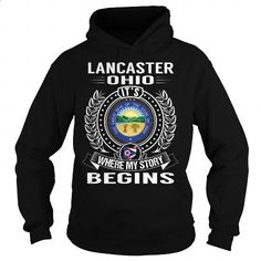 Lancaster, Ohio Its Where My Story Begins - #hoodies #blank t shirts. I WANT THIS => https://www.sunfrog.com/States/Lancaster-Ohio-Its-Where-My-Story-Begins-Black-Hoodie.html?60505