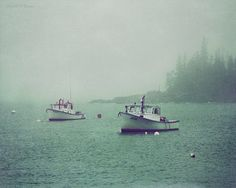 MAINE LOBSTER BOATS, Acadia National Park, Maine, Fine Art Photography, Elizabeth Thomas Photography of Cape Cod
