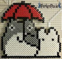 Studio Ghibli - Big and Little Totoro by PerlerPixie