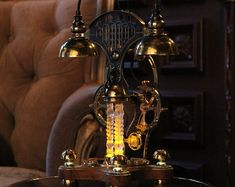 Steampunk lamps & Steampunk accessories by MarCoWoodRU on Etsy