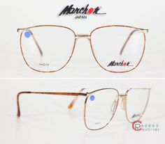 c4e343a37f Marchon Gold Tortoise 80s RX Frames with Demo Lens NOS Womens Eyewear