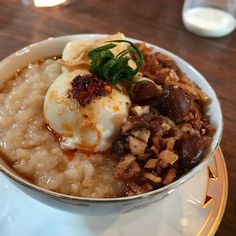Congee at @expatriatepdx.
