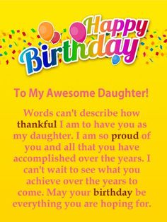 100 Best Happy Birthday Wishes For Daughter images in 2018