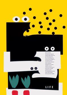 Minoru Nijima (1948-) – Life, Affiche pour une exposition (1994)