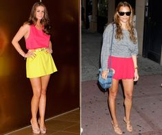 Brooke Vincent And Samantha Ronson Both Wear Colour Pop, 2012 (Look mag)
