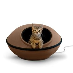 K&H Pet Products Mod Dream Pod Pet Bed Tan/Black