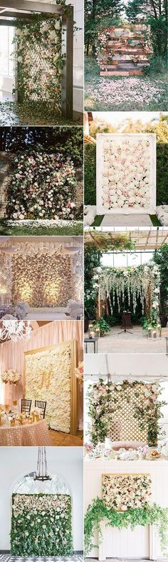 2018 trending flower wall wedding backdorp ideas
