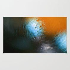 Condensation 34 - Vortex | Orange Area & Throw Rug by Pete Edmunds - $28.00