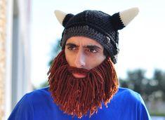 67d36c69b47bd Short Barbarian Hat. Crochet Beard HatViking ...