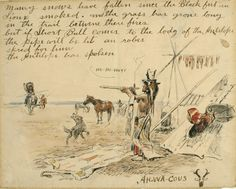 Sid Richardson Museum: Maney Snows Have Fallen. . .(Letter from Ah-Wa-Cous (Charles Russell) to Short Bull) by Charles M. Russell