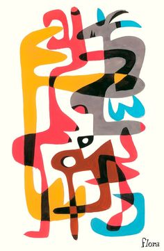 Abstract Tangle 3 by Jim Flora