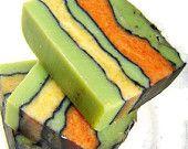 CITRUS SAGE Soap / Cold Process Soap / Artisan Soap Bar / Bath and Beauty green