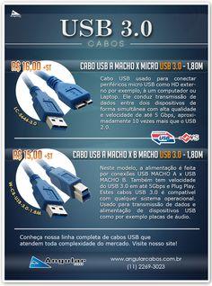 Linha de Cabos USB 3.0 com ótimo preço!