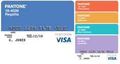 PANTONE Visa® Platinum Rewards Card.