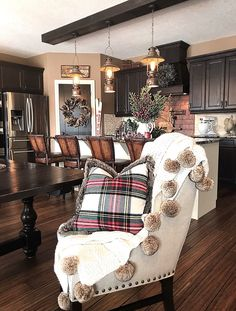 Christmas Dining Chair Decor Ideas Christmas Dining Chair Decor Ideas #Christmas #DiningChair See more on Home Bunch