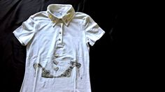 T-shirt silver withe for teen with a handpaint; glitter and silver by InSetArte on Etsy
