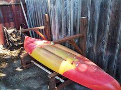 How To Make An Outdoor Kayak Storage Rack | Kayak Storage Rack, Kayak  Storage And Storage Rack