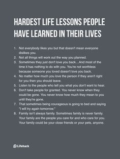 If You've Learned These Already, You've Matured Through Hardship