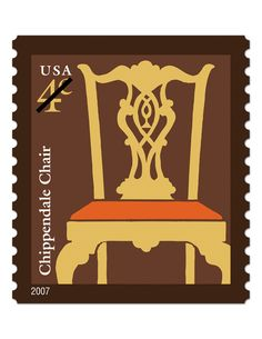 Chippendale Chair 4¢ • part of the USPS collection • Features work by artist Lou Nolan