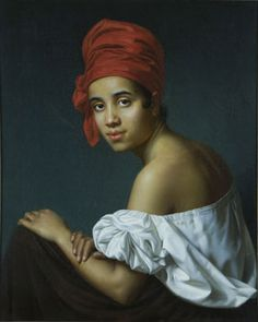 Creole in a Red Turban, ca. 1840, oil on canvas by Jacques Guillaume Lucien Amans; The Historic New Orleans Collection,