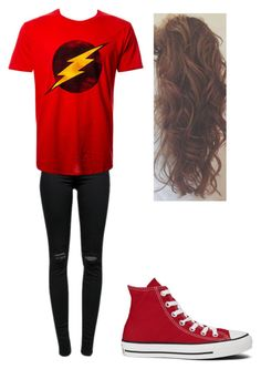 """The Flash Outfit"" by melanieangeles25 on Polyvore featuring J Brand and Converse"