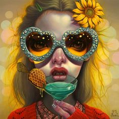 Kai Fine Art is an art website, shows painting and illustration works all over the world. Digital Portrait, Portrait Art, Digital Art, Portraits, Lowbrow Art, Artist Profile, Pop Surrealism, Surreal Art, Female Art