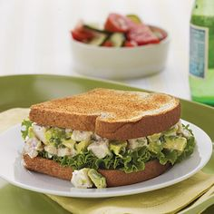 Avocado gives this chicken salad a rich, creamy texture as well as a healthy dose of monounsaturated fat, which protects against heart...