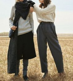 "what-do-i-wear:  Irene Hiemstra and Drake Burnette in ""Sweater Weather"" by Scott Trindle for W Magazine, August 2014"