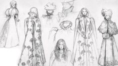 Concept art for Crimson Peak.