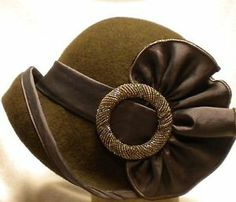 Lady Hats From 1920 | Cloche-1920s-ladies-flapper-wool-felt-hat-vintage-style-LOVET-MIX-CHOC ...