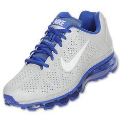 Nike Air Max 2011 Leather Platinum Royal Blue White Mens sz 8 Shoes 456325 040 | eBay