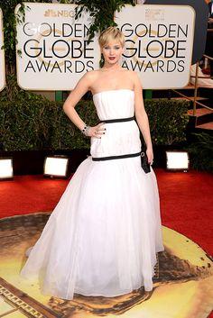 Alfombra roja Golden Globes 2014 - Jennifer Lawrence, en un look de Dior Haute Couture FW13