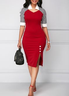 Cheap half sleeve Dresses online for sale Women's Fashion Dresses, Sexy Dresses, Cute Dresses, Casual Dresses, Sheath Dresses, Trendy Dresses, Cute Casual Outfits, Elegant Dresses, Work Outfits