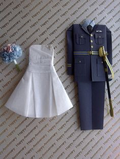 This uniform took longer to make than most of the tricky wedding dresses :) 1st Wedding Anniversary Gift, Anniversary Cards, Anniversary Dress, Wedding Paper, Wedding Cards, Happy Aniversary, Plan My Wedding, Wedding Planning, Wedding Ideas