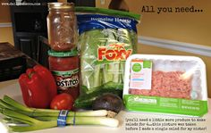 15 Minute {Paleo} Taco Salad - Daily Rebecca