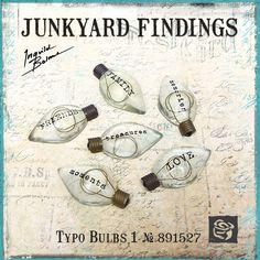 Junkyard Findings by Ingvild Bolme - Prima Typo Bulbs 1 Industrial Embellishments