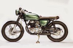 Honda CB350 'The Jade Green' cafe racer by Knott Motorcycles