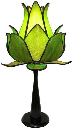 Sprouting Lotus Table Lamp - Lime