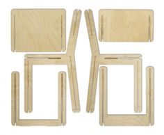Collapsible Puzzle Furnishings - The Jig Seat by Jos Blom is Inspired by the Childhood Building Toy (GALLERY)