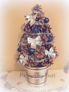 .◠◦◡❦ Design by Suzi ❦◡◦◠.: Mini stromček zo šišiek