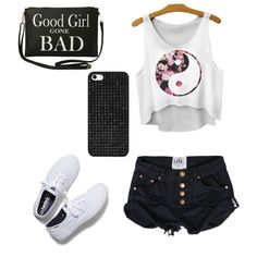 Good girl gone bad. by tialeiby on Polyvore featuring polyvore fashion style Keds Torrid BaubleBar