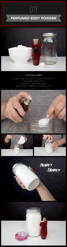 DIY Perfumed Body Powder #health #DIY