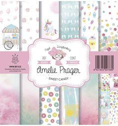 SET DE PAPELES SWEET CANDY AMELIE Amelie, Journaling, Kit, Scrap, Free, Decor, Stationery Shop, Cover Pages, Paper Envelopes