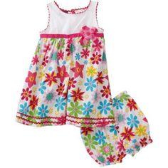 So La Vita Baby-girls Infant Knit Yoke Colorful Woven Skirt