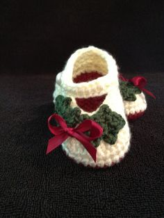 Hey, I found this really awesome Etsy listing at http://www.etsy.com/listing/111067779/crochet-baby-booties-baby-girl-christmas