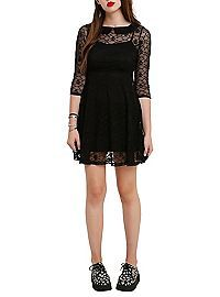 HOTTOPIC.COM - Royal Bones By Tripp Black Lace Skull Dress