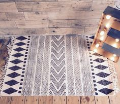 Hand woven rug by Scandanavian Design Team, House Doctor.We have it in 2 sizes 60 x 90 cms or 90 x 200cms. Why we love it - This rug is so on trend, hand made using traditional weaving techniques, it will transform any room, giving it that Scandanavian look. It's beautiful monochrome hand block print brings warmth and texture whether your room is traditional or contemporary. Meet the maker - House Doctor is a family-run interior design business based in Denmark, the company is run by three…