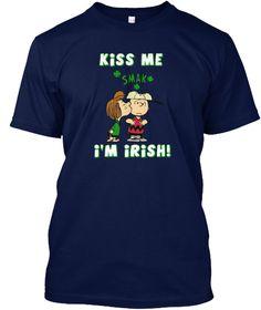 ✿ Of Course, We Always Love Being Irish ✿ Navy T-Shirt Front